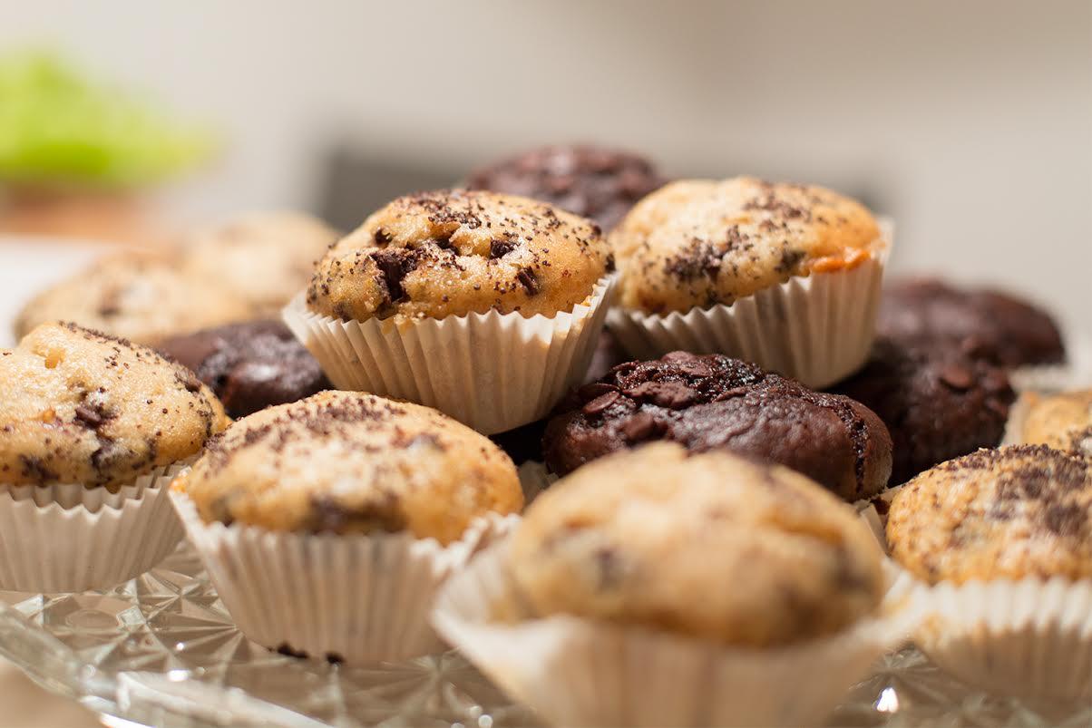 veganer ei ersatz f r muffins abgepudert. Black Bedroom Furniture Sets. Home Design Ideas