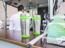 Kaffeebecher des Saarland Marketing in Essen