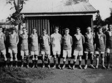 Pineapple Rovers Soccer Club, Kangaroo Point, ca. 1924