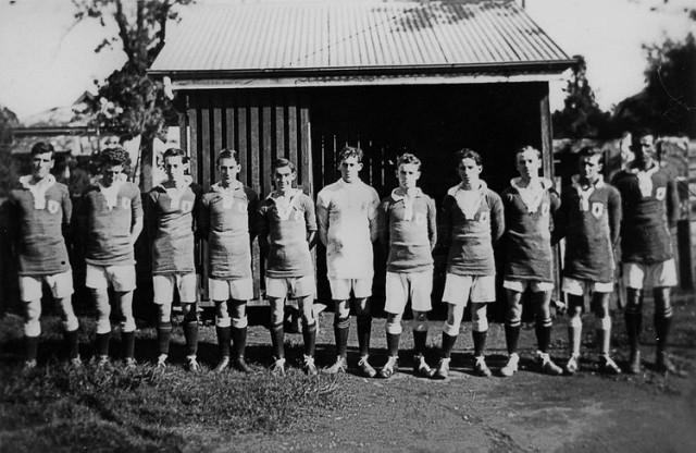 Pineapple Rovers Soccer Club, Kangaroo Point, ca. 1924